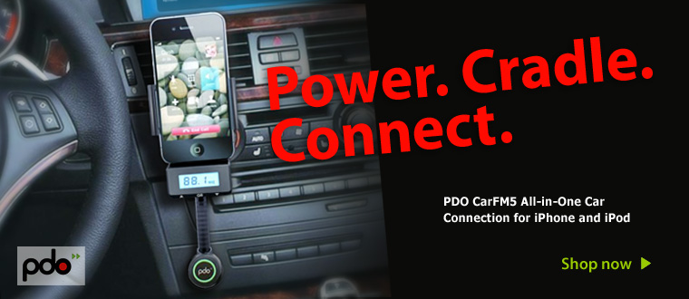 PDO CarFM5 All in one Car kit for iPhone 4S
