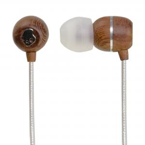 Skullcandy Holua Premium Wood Earphones Silver