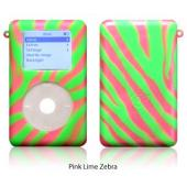 exo animals pink lime zebra for 20GB/30GB ClickWheel iPod