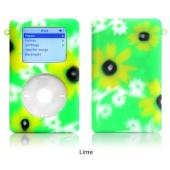 exo flowers lime for 20GB/30GB ClickWheel iPod