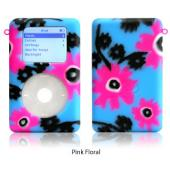 exo flowers pink floral for 20GB/30GB ClickWheel iPod